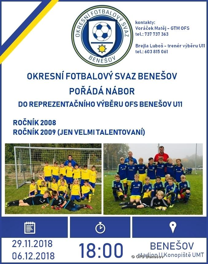 náborový plakát U11 OFS Benešov