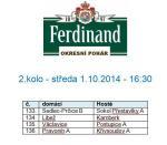 Okresní pohár Ferdinand - 2.kolo - los
